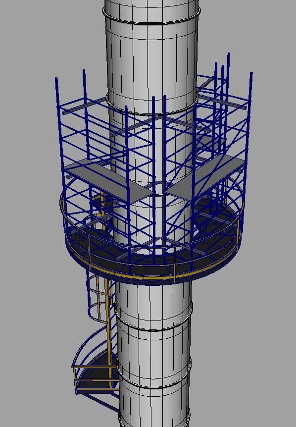 Detalle modelado 3d de estructura